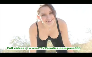 dani cute brunette woman getting naked and