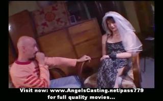 amateur ravishing dark brown bride ravishing