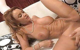 desirable brunette hair milf with big honkers