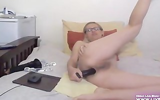 mature blond alanna with glasses bonks her a-hole