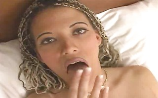 wench with flat milk sacks and dreads creampied