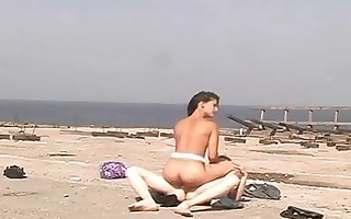 legal age teenager cookie drilled on the beach