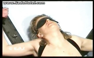 tied blind folded villein acquires fucks with a