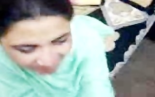 worthwhile pakistani lady reluctantly sucks and