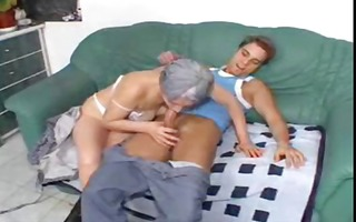 granny receives a younger hard knob to engulf on