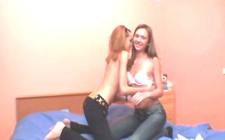 dancing and pussy licking for a web camera