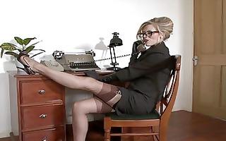 michelle wet - feeling ravenous in the office.