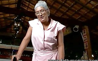 older granny eva seventy one year old with the