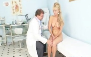 aged woman anezka coming to receive her mature