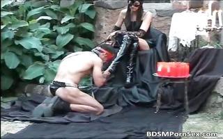 sadomasochism scene where a chap receives