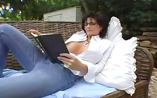 busty dark brown mother i eats cock and showers