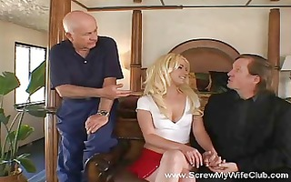 wife gets screwed, makes hubby smile!