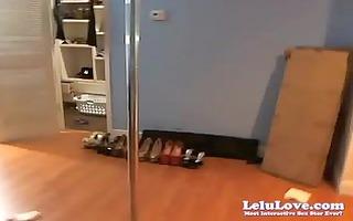 webcam: stripping on fresh spinny pole