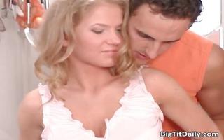 breasty blond cutie receives wet snatch part4