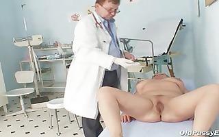 older fat radka gyno pussy speculum exam