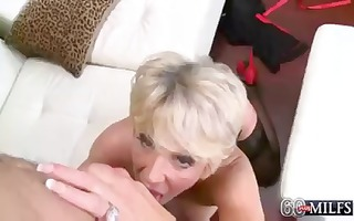 deanna is a horny golden-haired granny that is