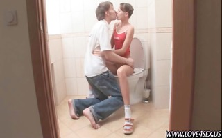 blowjob in a toilet