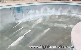 bridgette kerkove hardcore in a disused swimming
