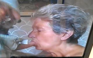 granny sucks dong
