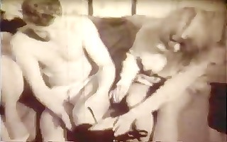 vintage: 60s threesome big breasted golden-haired