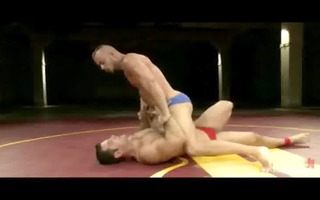 muscled homo guys fight for the right to dominate
