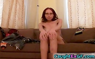 dilettante gf in glasses receives horny part4