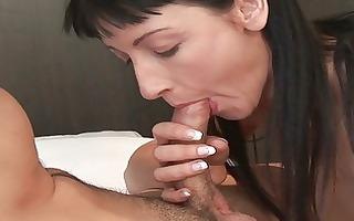 sexy european bitch strips and sucks on jock