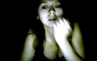 indonesian girl loves to tease on cam