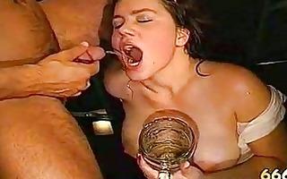 outlandish piddle drinking bukkake