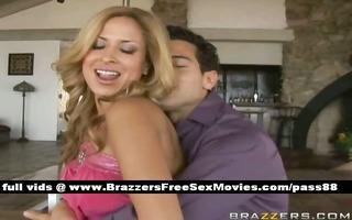 ravishing blond sweetheart at home dancing in