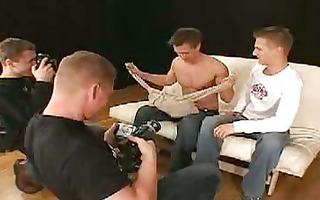 homosexual studs get naked in the television
