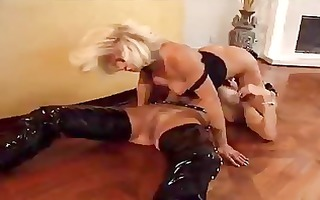 two lesbians, one with a foot fetish