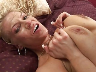 Busty blonde does blowjob and titsjob and fucked