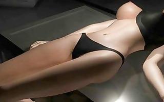 hot animated blonde acquires deepthroat