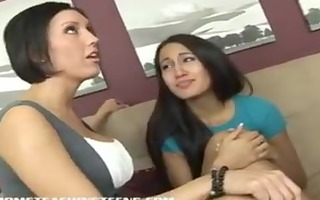 step-mom teaches teen daughter to please a ramrod