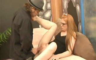 redhead red ginger gets nude to take it from