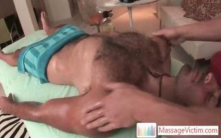 gianni lica gets hirsute chest massaged