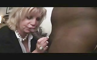 aged lady anneke tries the bbc clothed sexy for
