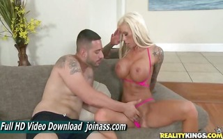lolly ink golden-haired bigtits bikini tittyfuck