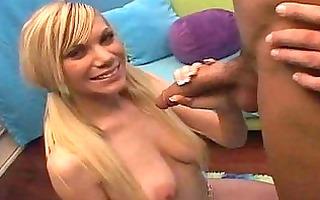 blonde teenies meaty pussy gets creamed