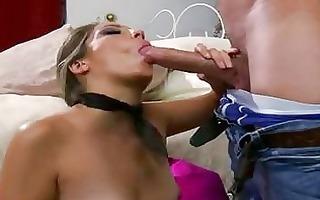 filthy pornstar jenna haze chokes herself with an