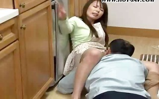 oriental babe gets screwed by a ally who happens