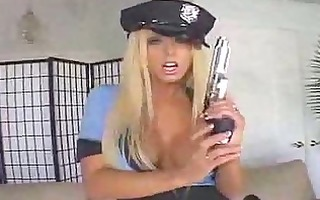 police blond screwed by chap large knob