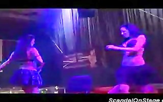 scandal on stage lesbo strippers licking soaked
