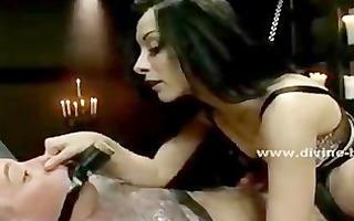 brunette hair pervert dominatrix dominating and