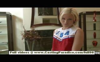 jasmine jolie dilettante blonde cheerleader with