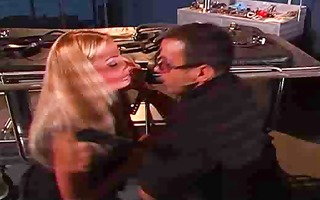 golden-haired playgirl is abused and manhandled