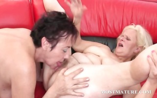 hardcore 3some with mature getting anal