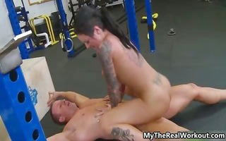 hot tattooed sweetheart receives lustful