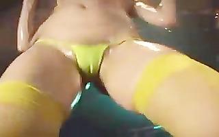 micro bikini oily dance - mei wakatsuki.